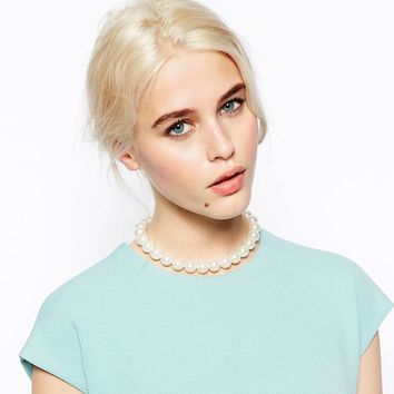 New Arrival Jewelry Shiny Stylish Gift Simple Design Pearls Necklace [7316491207]