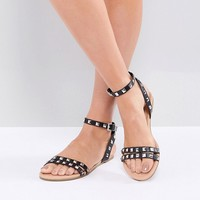 ASOS FIBBING Studded Flat Sandals at asos.com