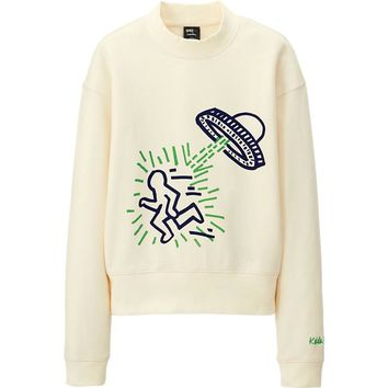 WOMEN SPRZ NY LONG SLEEVE SWEAT SHIRT (KEITH HARING) | UNIQLO