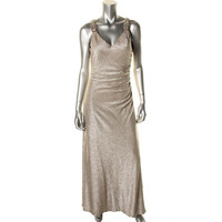 Calvin Klein Womens Metallic Embellished Evening Dress