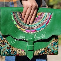 Embroidery Ethnic Clutch Bag