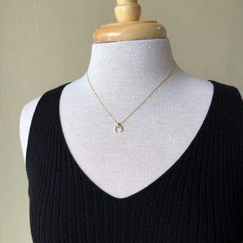 Gold Plated Sterling Silver Horseshoe Necklace