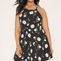 Plus Size Floral Cami Dress