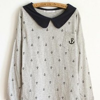 Doll Territorial Sea Anchor Pocket Shirt Gray$38.00