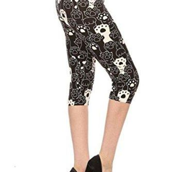 Leggings Depot Capri REGPlus Womens Buttery Popular Prints BAT7