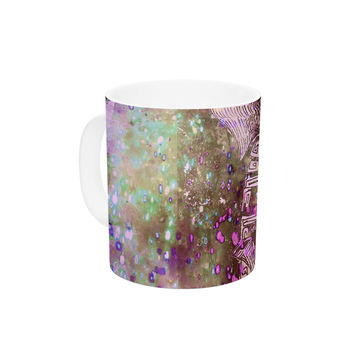 "Marianna Tankelevich ""Pink Dust Magic"" Elephant Sparkle Ceramic Coffee Mug"