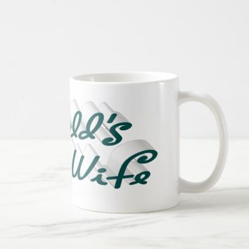 World's Best Wife 3D Mug, Blue-Green Coffee Mug