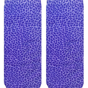Pebble Violet Ankle Socks