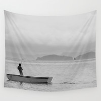 The Fish that Towed the Boat Wall Tapestry by RichCaspian