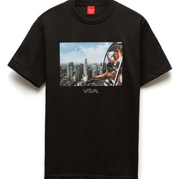 Visual by Van Styles Heartbreaker High Rise T-Shirt - Mens Tee - Black
