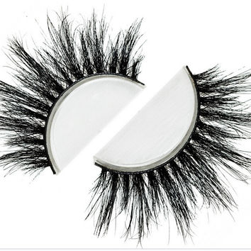 Free shipping fashion style luxury 100% real mink strip lashes vegas lashes natural long soft mink lashes