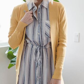 The Everyday Cardigan in Yellow – Good Row Clothing