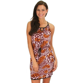 Cheetah Printed Tank Dress