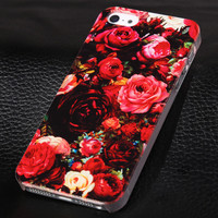 Romantic rose phone case for iphone 5 5s SE + Nice gift box 072702