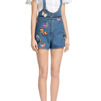 Denim Playsuit - Valentino | WOMEN | US STYLEBOP.COM