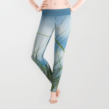 Dreaming in the grass Leggings by Tanja Riedel