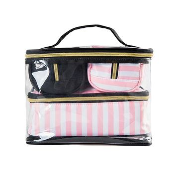 4Pcs Lady's Cosmetic Bags Set Portable Makeup Tools Organizer Case Toiletry Vanity Pouch Travel  Box Accessories Supply Product
