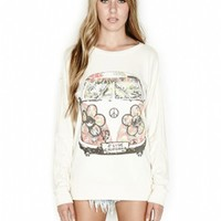 Lauren Moshi Avery L/S Pullover in Silk
