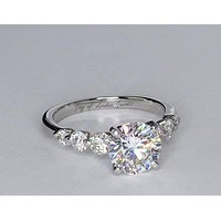 A Perfect 3CT Round Cut Solitaire Russian Lab Diamond Engagement Wedding Anniversary Ring