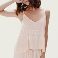 NEED COFFEE CAMI & CLASSIC PANT SET