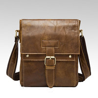 Mans Crossbody Bag Cowhide Messengers Bags Genuine Leather Shoulder