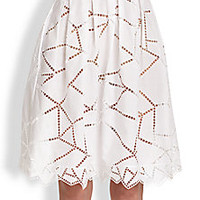 Christopher Kane - Cotton Broderie Princess Skirt - Saks Fifth Avenue Mobile