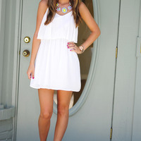 Never Gonna Give Up On You Dress: White | Hope's