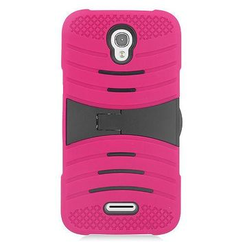 Alcatel One Touch POP Astro Hybrid Silicone Case Cover Stand Pink