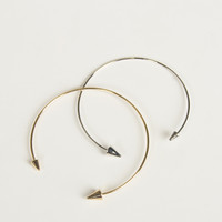 Double Trouble Pointed Cuff Bracelets