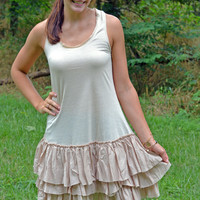 Layered Ruffle Under Slip Dress