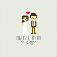 CUSTOM Wedding Cross Stitch Pattern