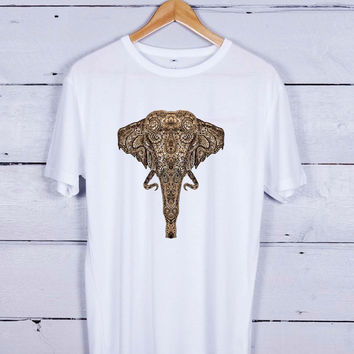 elephant gold Tshirt T-shirt Tees Tee Men Women Unisex Adults