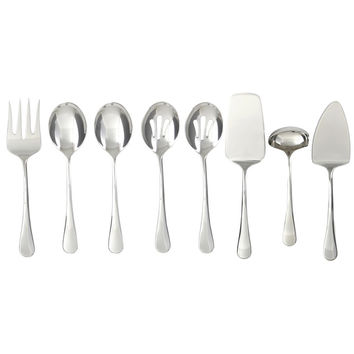 Cambridge 'Opulence' Stainless Steel 8-piece Hostess Set | Overstock.com Shopping - The Best Deals on Flatware Sets