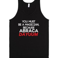 You Must Be a Magician-Unisex Black Tank