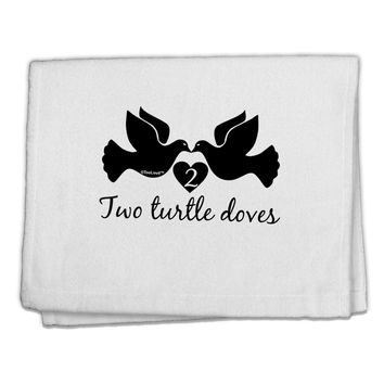 """Two Turtle Doves Text 11""""x18"""" Dish Fingertip Towel"""
