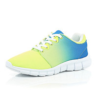 River Island MensYellow ombre neon sneakers