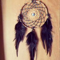 Boho  Dream Catcher with Sodalite // Hippie  Dorm Room Decor