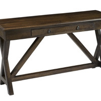 Crisscross Brown Sofa Table