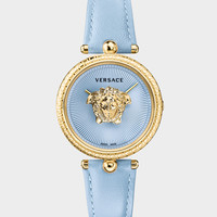 Versace Blue Palazzo 34 mm Empire Watch for Women | US Online Store
