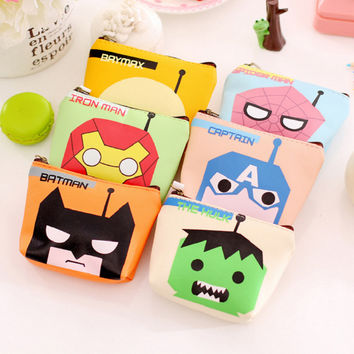 Creative cartoon anime hero PUleather coin purses child girl&student women change purse,lady zero wallets,coin bag Free shipping