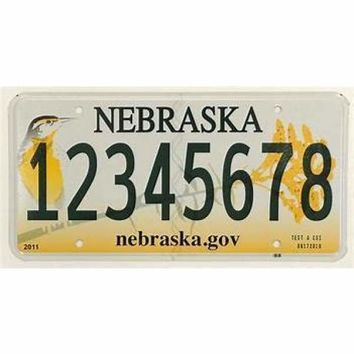Nebraska Genuine License Plate