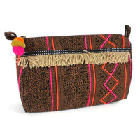 Hmong Batik Toiletry Bag Earth