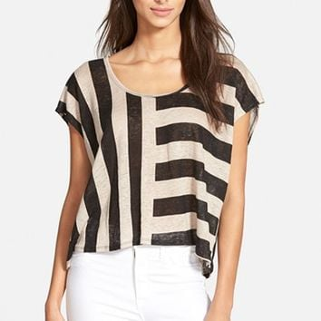 Women's Plenty by Tracy Reese Stripe Linen Tee,