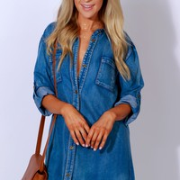Denim The Lights Dress Blue