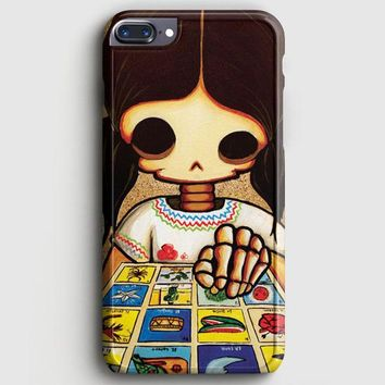Day Of The Dead Skeleton Girl iPhone 7 Plus Case