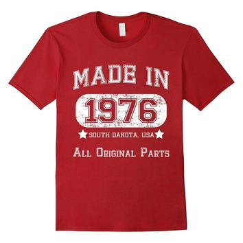 40TH BIRTHDAY T SHIRT FOR SOUTH DAKOTA. MADE IN 1976 SOUTH D