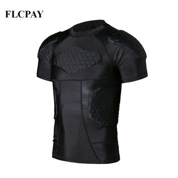New Sports Safety Protection Thicken Gear Soccer Goalkeeper Jersey Knee Pads Outdoor Football Padded Protector T shirts Training