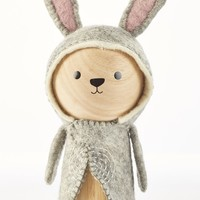 Evan the Rabbit - Wooden Animal Dolls by ZooModern