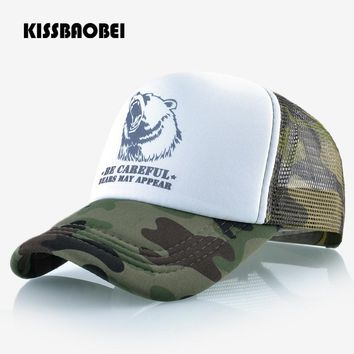 Trendy Winter Jacket Animal Pattern Baseball Cap Men Women Snapback Hats Mesh Breathable Bear Caps Unisex Adjustable Hip Hop Bone Casual Camo Gorras AT_92_12