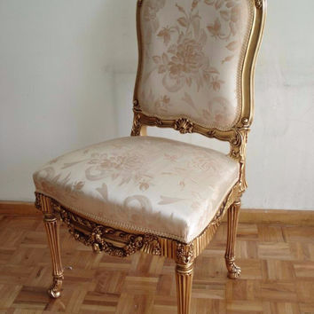 """Victorie"" Fabulous Baroque Victorian French Provincial Louis XIV Reproduction Rococo Chair"